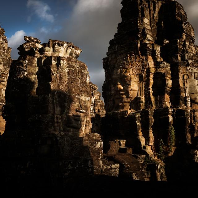 """Bayon, Angkor in Beautiful Light"" stock image"