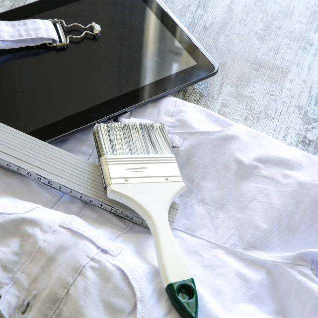 """""""Painting Tools and Outfit"""" stock image"""
