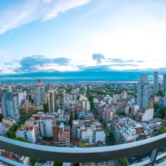 """The skyline of Buenos Aires"" stock image"