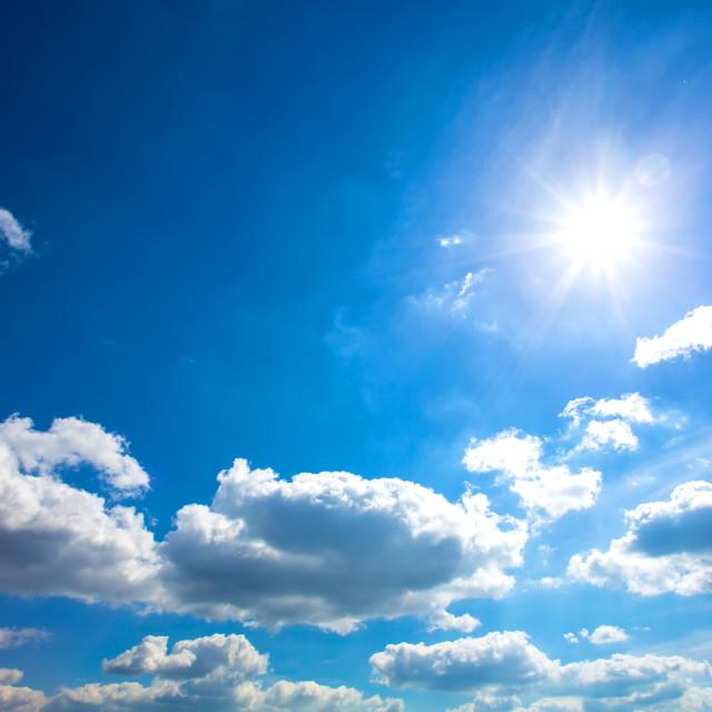 """Blue Sky Background"" stock image"