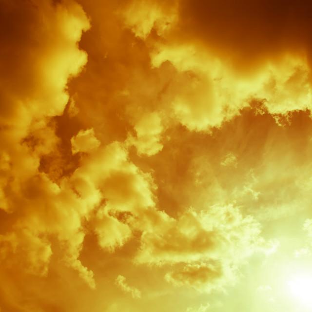 """Golden Sky"" stock image"