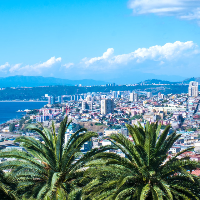 """View over Valparaiso"" stock image"