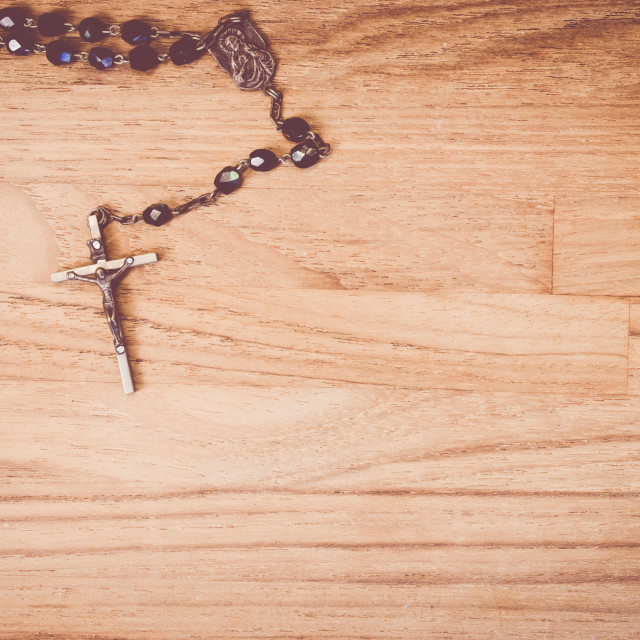 """""""rosary with rood"""" stock image"""
