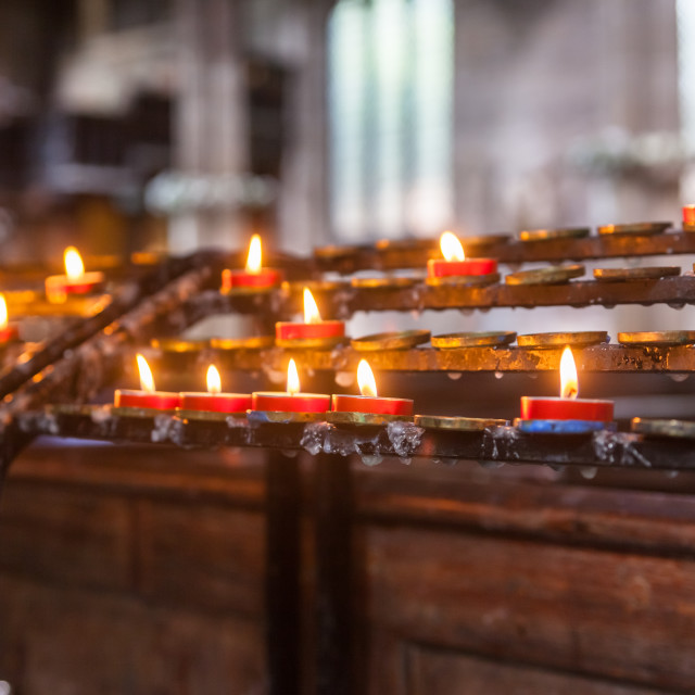"""Votive Candles"" stock image"