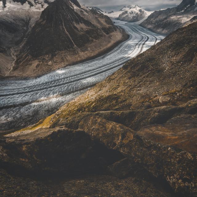 """""""Aletsch Glacier"""" stock image"""