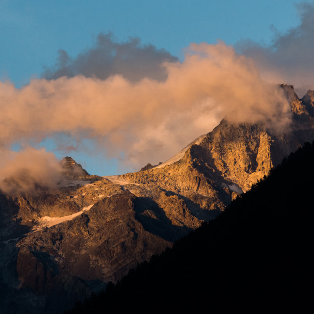 """Sunset Peaks of Mont Blanc"" stock image"