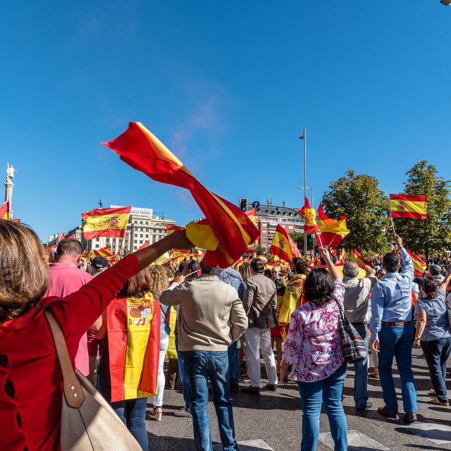 """Anti-separatist demonstration in Madrid"" stock image"