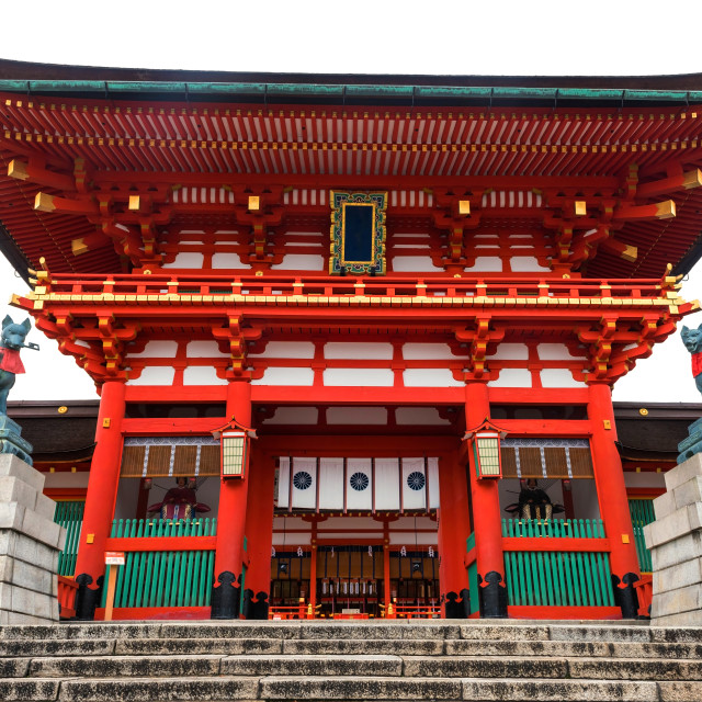 """Main Entrance of Fushimi Inari, Kyoto"" stock image"