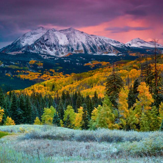 """When Fall Comes To Colorado"" stock image"