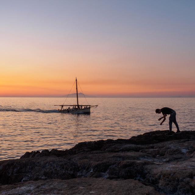 """""""Sorrento sunset"""" stock image"""