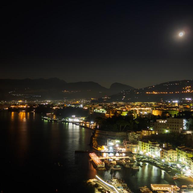 """Sorrento night"" stock image"