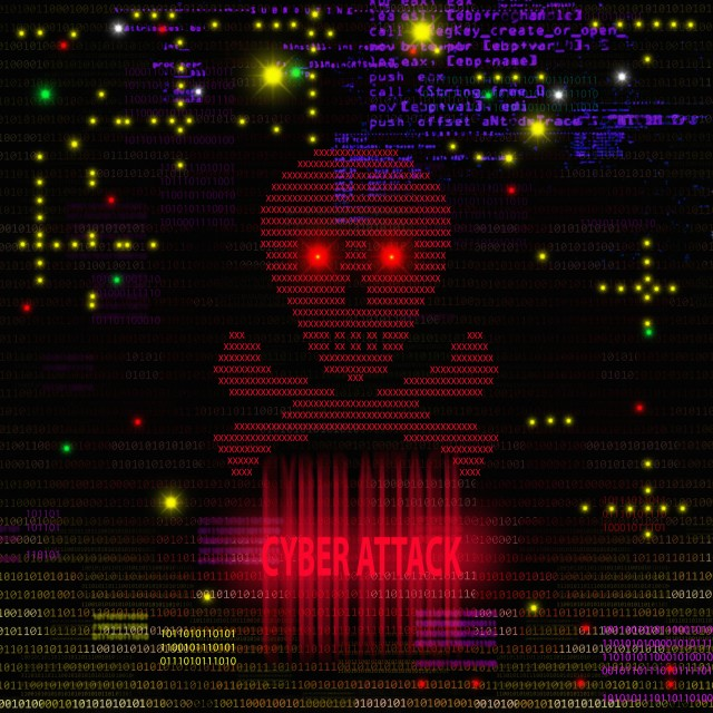 """""""Cyber attack, illustration"""" stock image"""