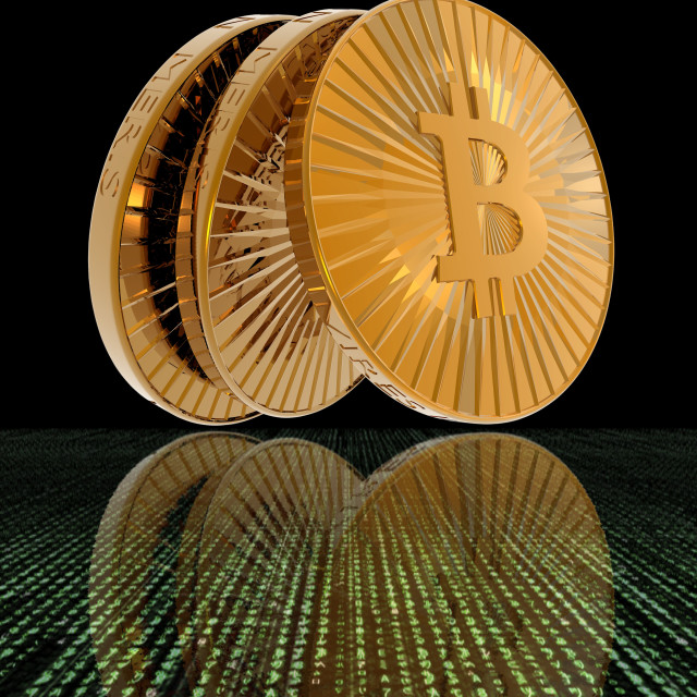 """Bitcoins"" stock image"