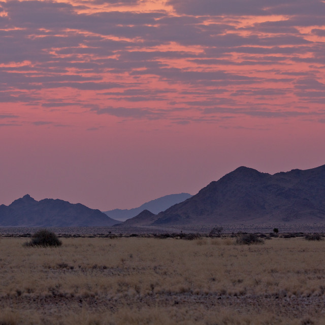 """Namibian sunset"" stock image"