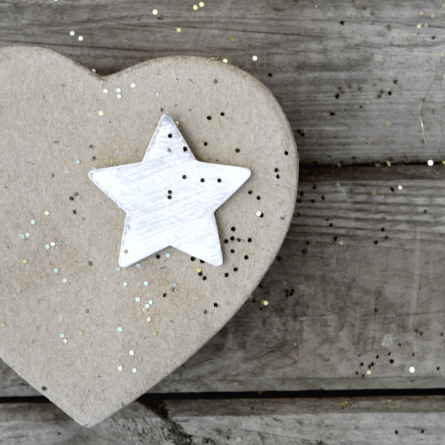 """star on a heart-shaped"" stock image"