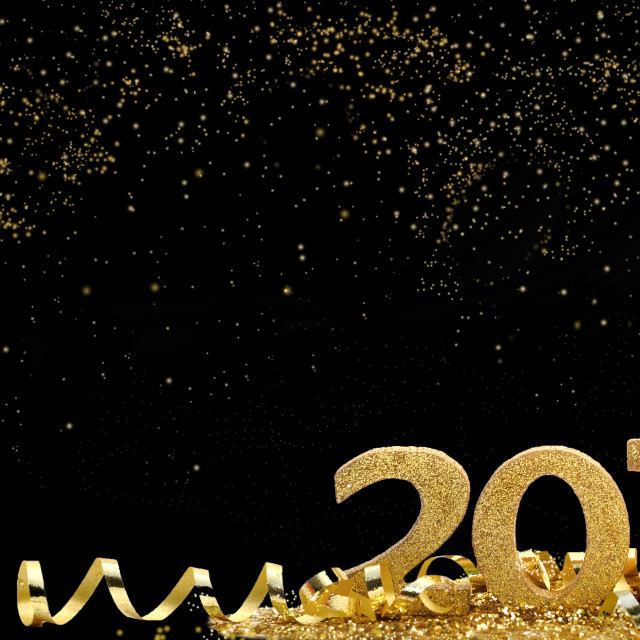 """golden and magical new year"" stock image"