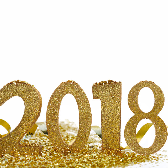 """new year figures 2018"" stock image"