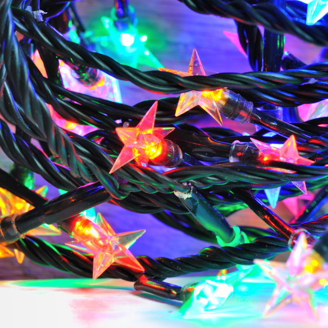 """colorful electric garland"" stock image"