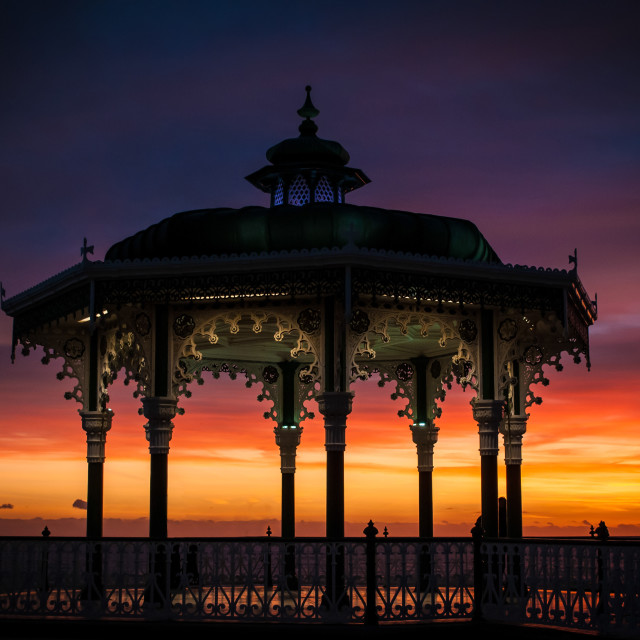 """""""Bandstand Sunset"""" stock image"""