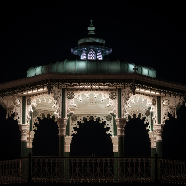 """""""Bandstand at Night"""" stock image"""