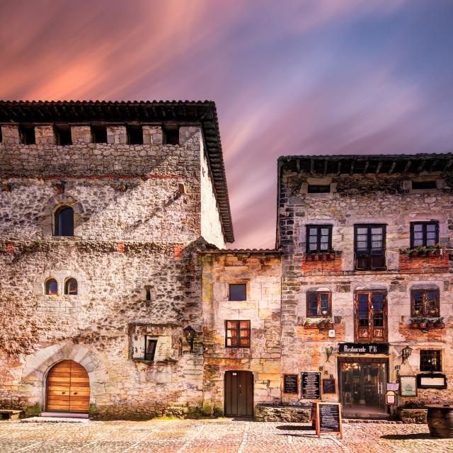 """""""Houses in Santilliana del mar"""" stock image"""