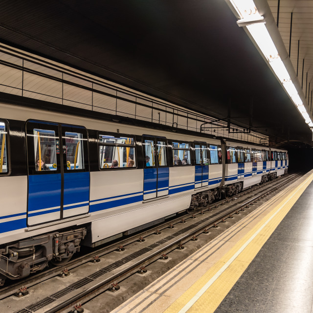 """""""Subway platform with a train"""" stock image"""