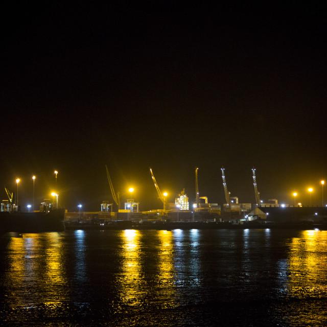"""""""Lagos Nigeria Seaport"""" stock image"""