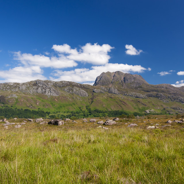 """Beatiful and serene landscape of a mountain in the Highlands of Scotland, United Kingdom"" stock image"
