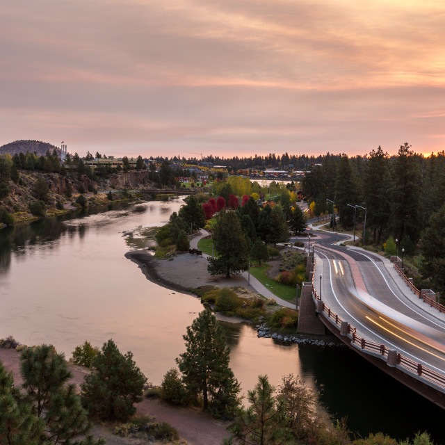 """Bend Oregon Fall Morning"" stock image"