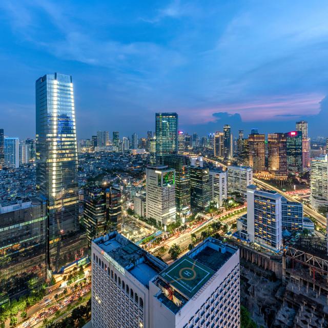 """Jakarta: Sudirman intersection"" stock image"