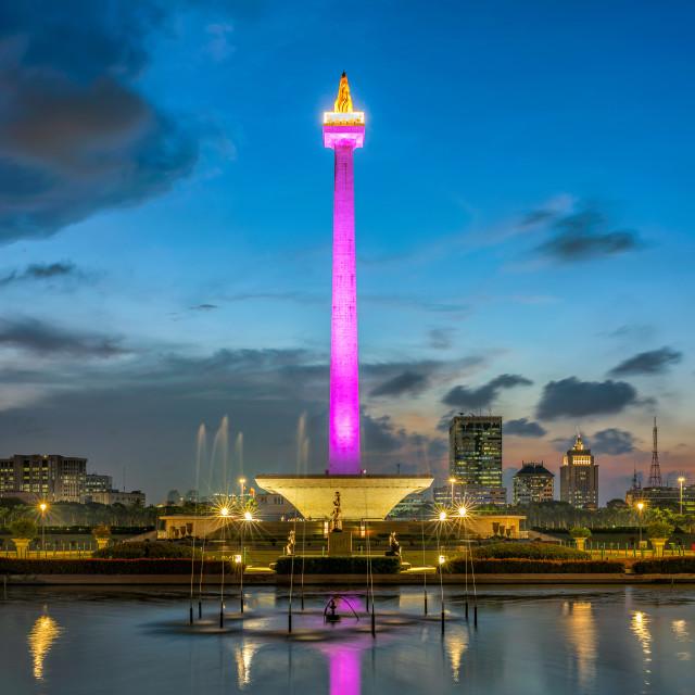 """""""Jakarta: Monas / National Monument 2"""" stock image"""