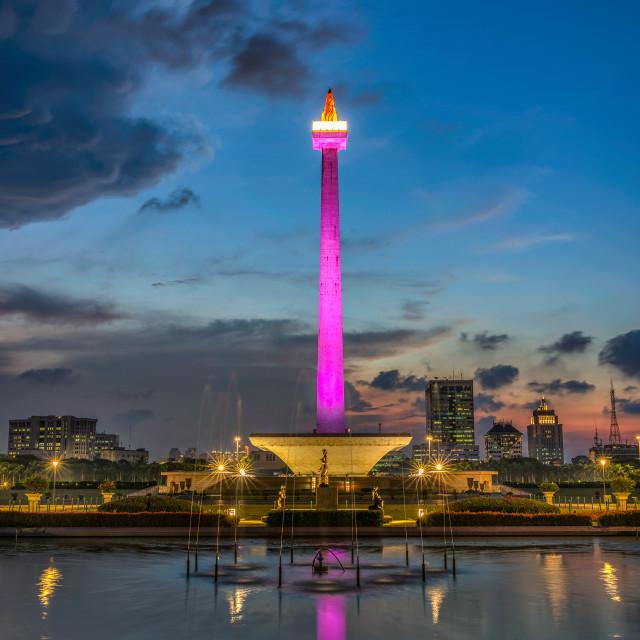 """""""Jakarta: Monas / National Monument 1"""" stock image"""