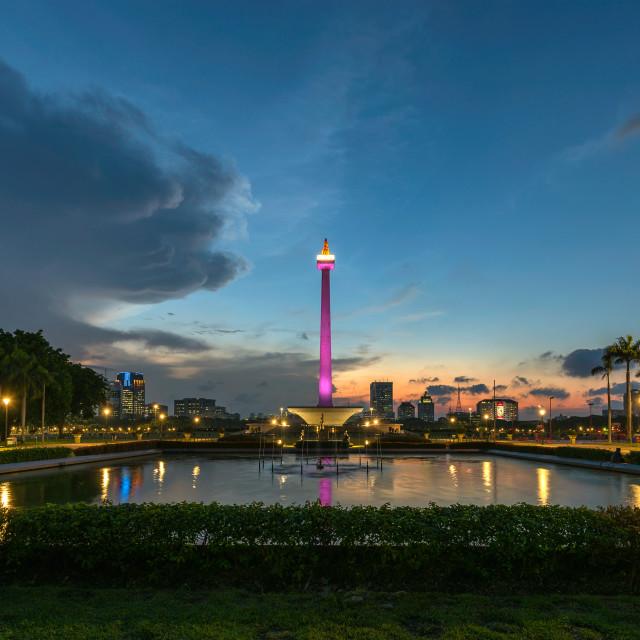 """""""Jakarta: Monas / National Monument 3"""" stock image"""