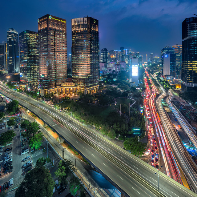 """Jakarta: Sampoerna Strategic Square"" stock image"