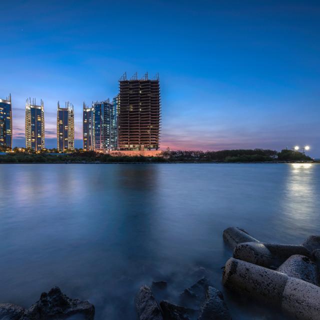 """Jakarta: Regatta Apartment"" stock image"