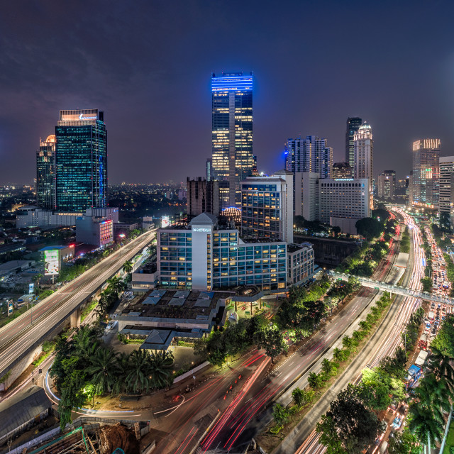 """Jakarta: Sudirman intersection"" stock image"
