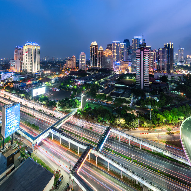 """Jakarta: Sudirman Central Business District (SCBD)"" stock image"