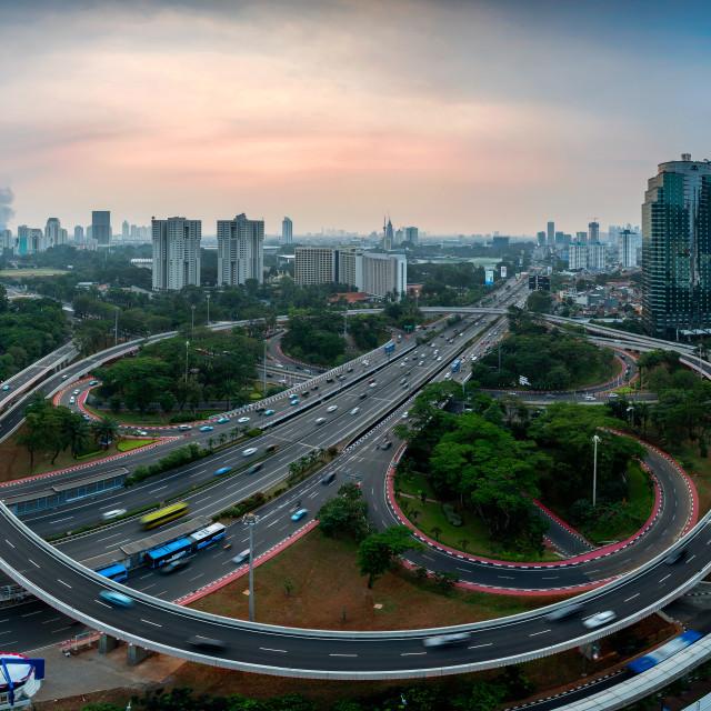 """Jakarta: New face of Semanggi Interchange 2"" stock image"