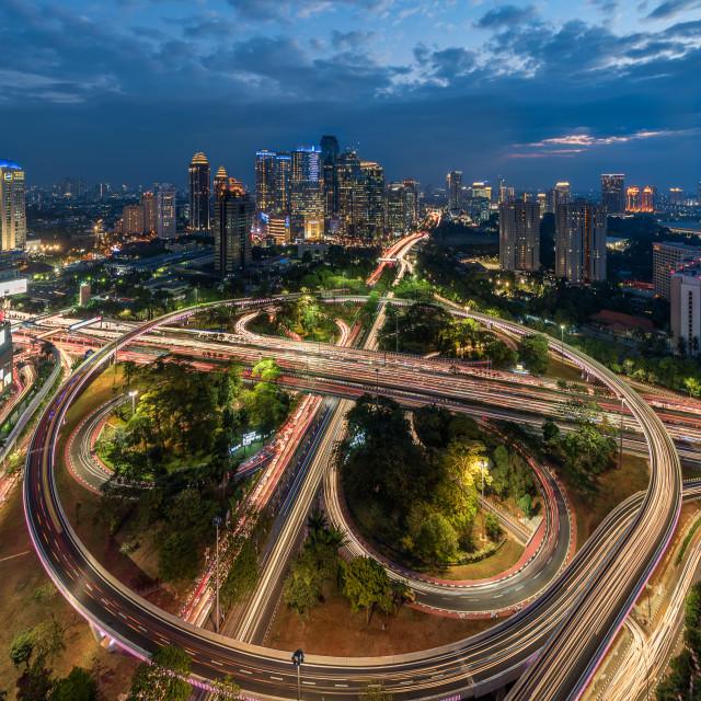 """Jakarta: New face of Semanggi Interchange 3"" stock image"