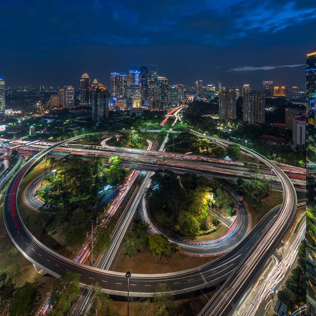 """Jakarta: New face of Semanggi Interchange 4"" stock image"