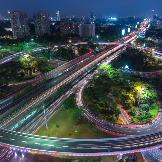 """Jakarta: New face of Semanggi Interchange 1"" stock image"