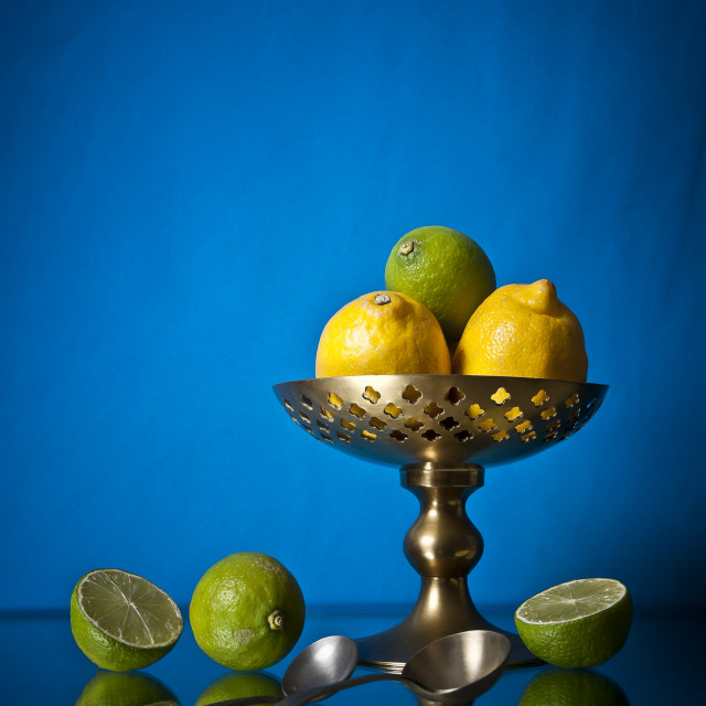 """Lemons and Limes"" stock image"