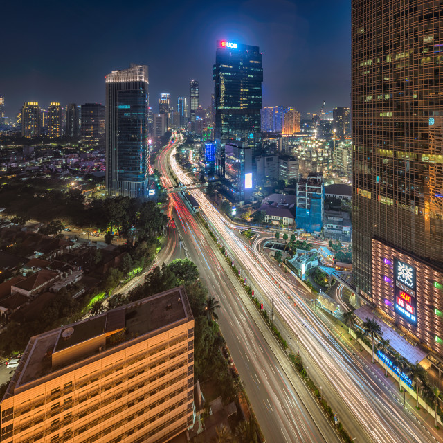 """Jakarta: Thamrin during peak hours"" stock image"