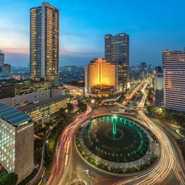 """Jakarta : Selamat Datang Monument / Bundaran HI"" stock image"