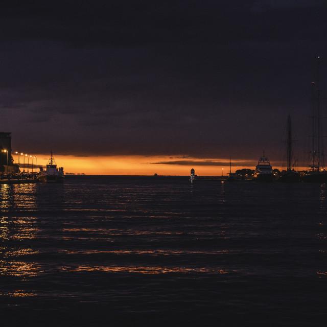 """Sunset in Zadar, Croatia"" stock image"