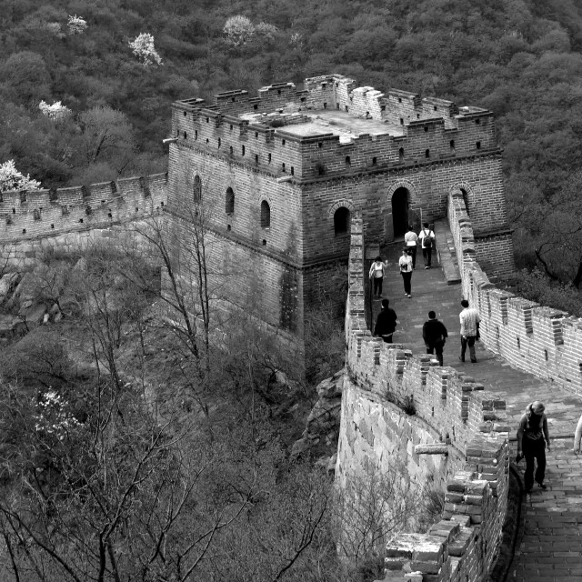 """The Mutianyu section of the Great Wall of China, Mutianyu valley, Beijing..."" stock image"