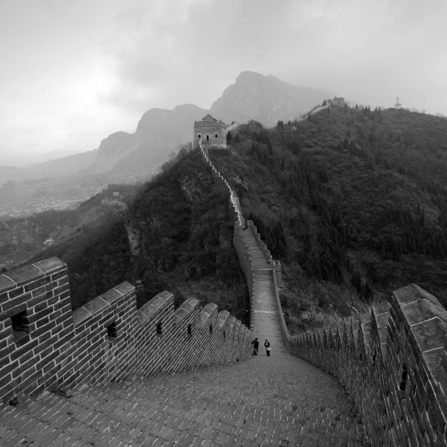 """View of the Great Wall of China near Taiping Jzhai village, Tianjian..."" stock image"