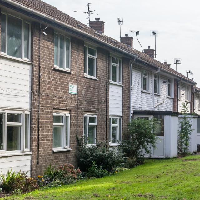 """""""Social Housing Street"""" stock image"""