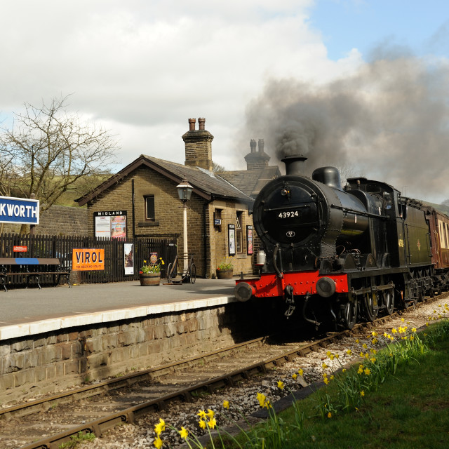 """The Railway Children's Station"" stock image"