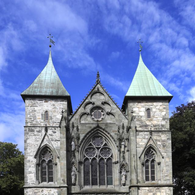 """Stavanger Domkirke (St Svithun's cathedral) Stavanger town, Western Fjords,..."" stock image"